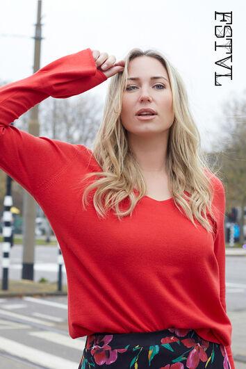 Pullover mit V-Ausschnit