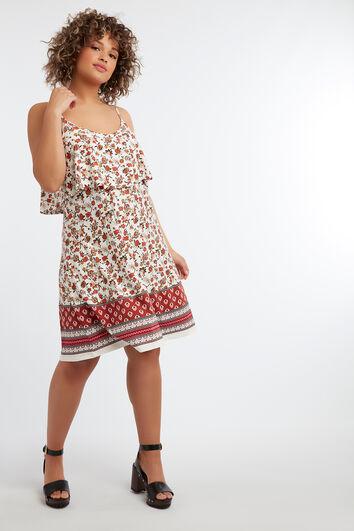 Ärmelloses Kleid mit floralem Print