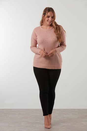 Basic-Pullover mit Lurex