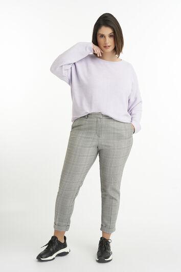 Kurz geschnittene Hose mit Karo-Print