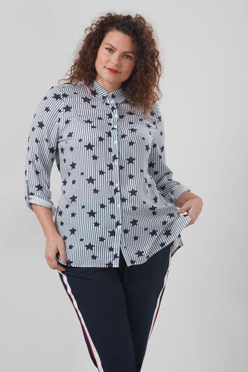 Bluse mit Sternen-Print