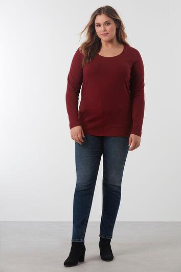 Basic T-Shirt mit leichtem Stretch-Anteil