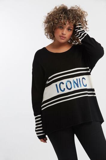 Feinstrick-Pullover mit Pailletten