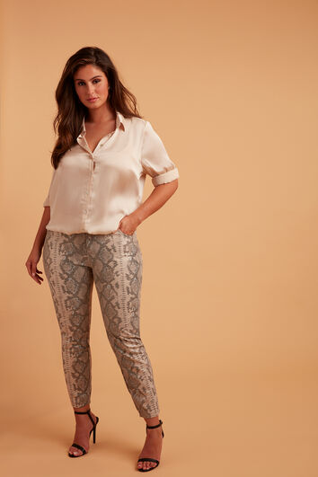 Hose mit schmalem Bein und Schlangen-Print