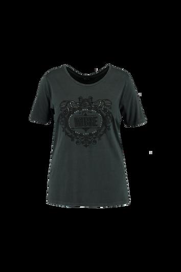 T-Shirt mit aufgesticktem Print