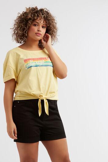 T-Shirt mit Regenbogen-Print