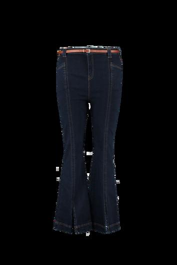 High Waist Jeans mit Schlitzen