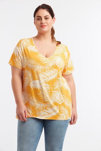 Basic T-Shirt mit Print