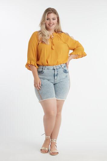 Shorts mit orangem Glitterstreifen