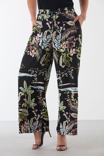 Loose-Fit Hose mit floralem Print