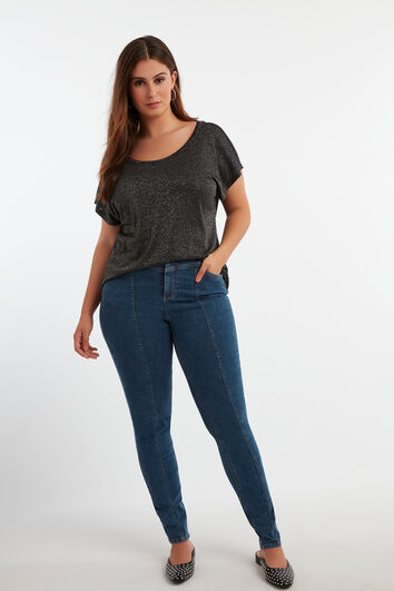 Skinny-Leg-Jeans mit hohem Bund