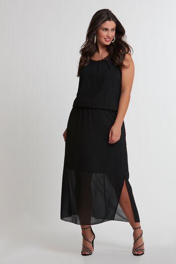 Maxi-Kleid mit Spitze