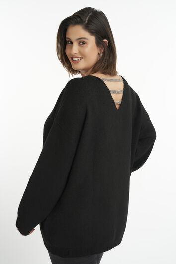 Sweatshirt mit Glitzerdetail