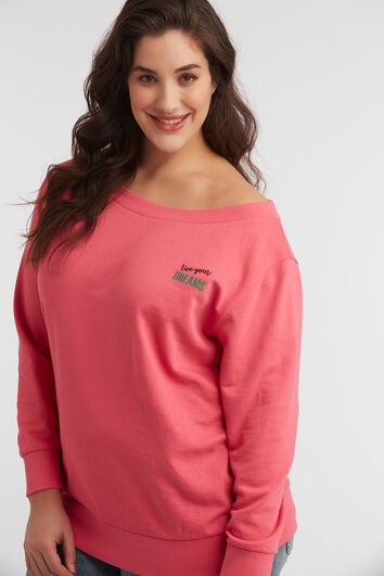 Schulterfreier Sweater