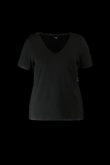Kurzärmliges T-Shirt mit V-Ausschnitt