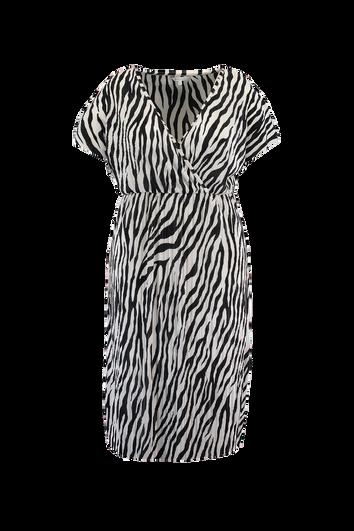 Plissee-Kleid mit Zebra-Print