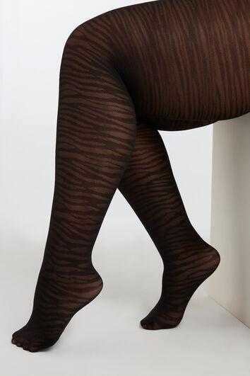 Strumpfhose mit Zebra-Print