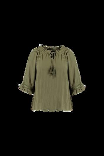 Bluse mit Lochmuster-Details