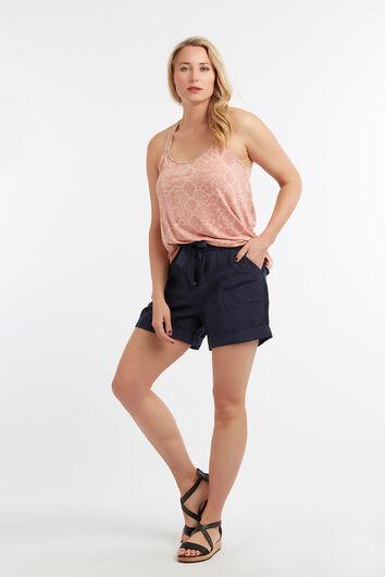 Leinenmischgewebe-Shorts
