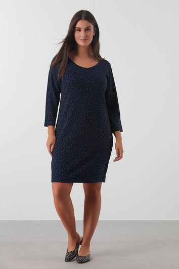 Kleid mit durchgehendem Motiv