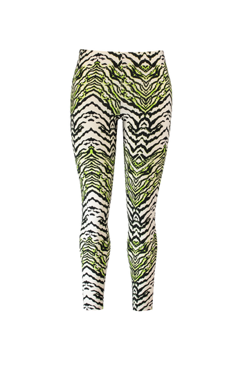 Neon-Leggings mit Zebra-Print