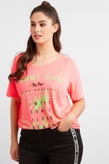 T-Shirt mit Neon-Print