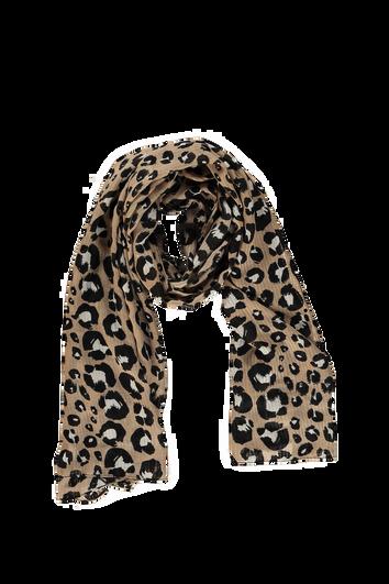 Leichter Schal mit Leoparden-Print
