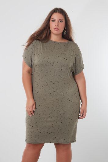 Kleid mit Farbspritzer-Muster