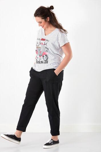 T-Shirt mit Allover-Print und Schriftzug