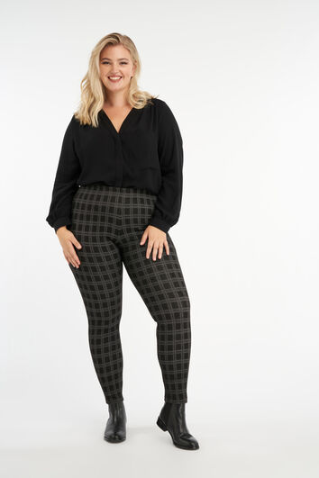 Plaid-Treggings