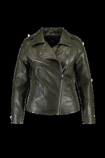 Biker-Jacke aus Kunstleder