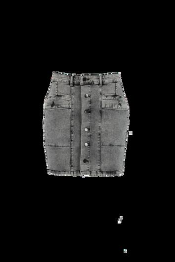 Jeans-Rock mit Knöpfen