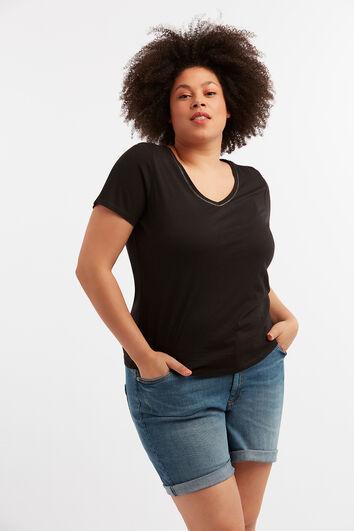 T-Shirt in Slub-Qualität