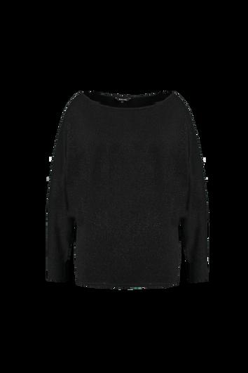 Schwarzer Lurex-Pullover