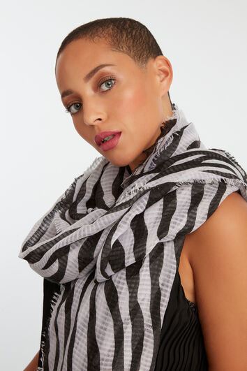 Dünner Schal mit Zebra-Print