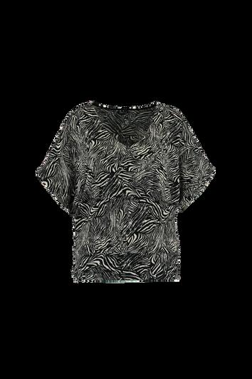 Top mit Zebra-Print und Fledermaus-Ärmeln