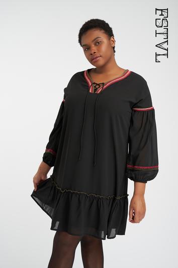 Kleid mit Stickerei-Element