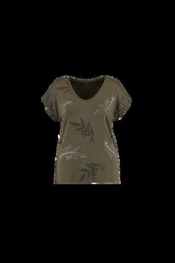 T-Shirt mit Botanik-Print