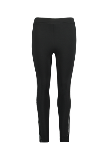 Leggings mit sportiven Kunstleder-Streifen