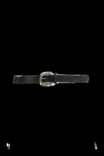 Kunstleder-Gürtel mit Glitzerschnalle