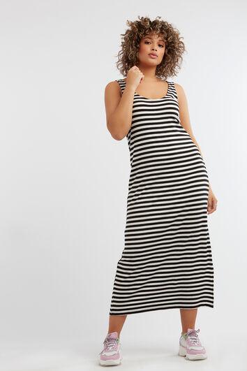 Ärmelloses gestreiftes Kleid