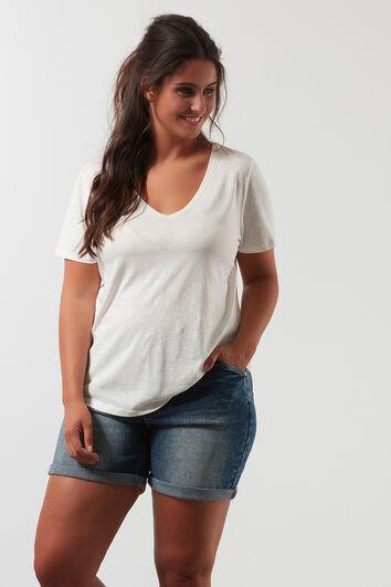 T-Shirt in Slub-Optik