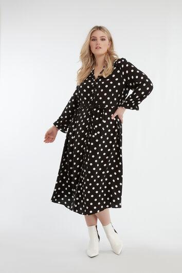 Kleid mit großem Punktmuster