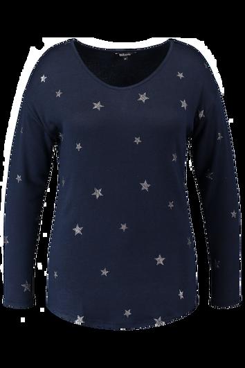Feinstrick-Top mit Sternen