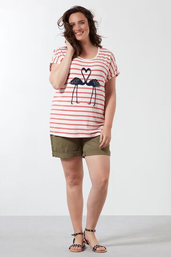 T-Shirt mit Streifen-Print
