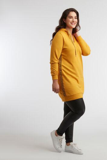 Sweater-Kleid mit sportivem Streifen