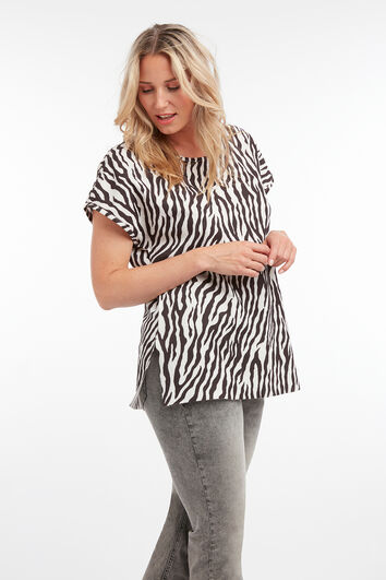 Top mit Zebra-Print