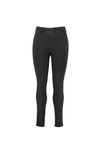 POPPY Treggings in schmaler Passform mit Punkt-Motiv