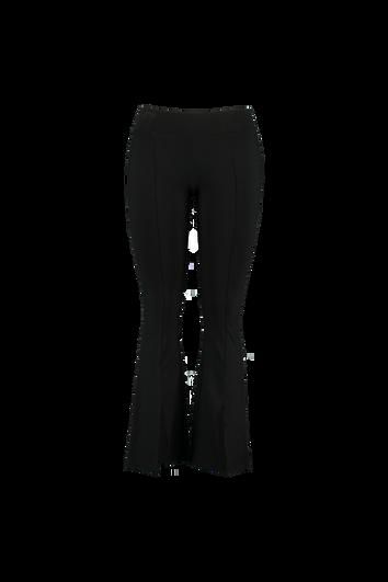Ausgestellte Hose mit Schlitzen