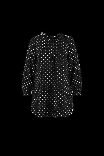 Tunika-Bluse mit Punktmuster